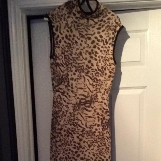 St. John short dress Brown And Beige on Tradesy