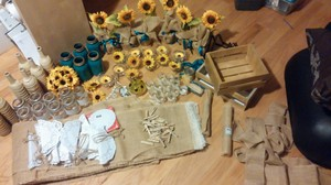 Rustic Wedding Decor With Sunflowers