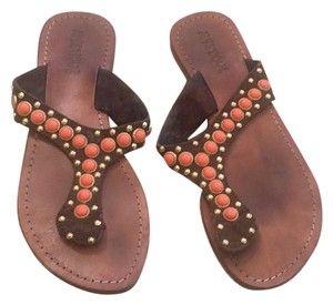 Mystique Boutique Brown, coral, gold Sandals