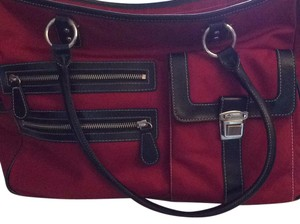 Ann Taylor LOFT Satchel in Black And Red
