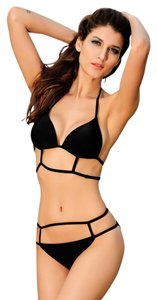 Other New's Hot Black Sexy Strappy Bikini Swimwear Item No. : LC40637