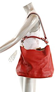 Marni Leather Tote in Red
