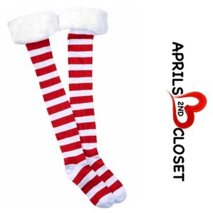 Free Press Tall Over The Knee Striped Boot Socks