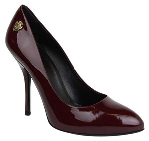 Gucci Women's Patent Leather Burgundy Pumps
