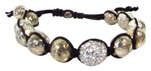 Tai Adjustable Tai Bracelet w Crystal Encrusted Center Bead