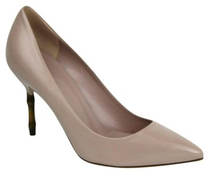 Gucci Leather Bamboo Beige Pumps