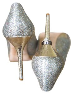 Jimmy Choo Champagne Glitter Pumps