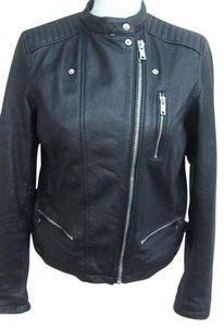 Zara Black with silver hardware Leather Jacket