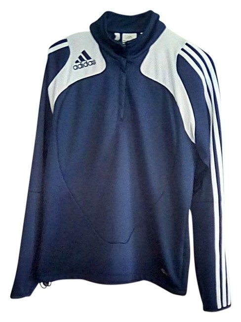 Item - Navy and White Climacool Sweatshirt/Hoodie Size 8 (M)