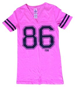 PINK Victoria's Secret T Shirt NEON Pink/Black