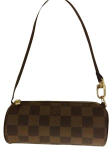 Louis Vuitton Papillon Papilon Pochette Wristlet in Ebene