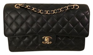 Chanel Classic Caviar Gold Hardware Medium Shoulder Bag