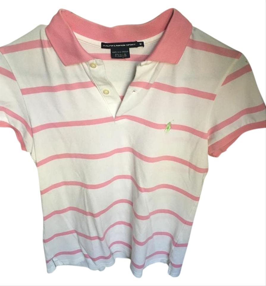 Ralph lauren light pink and white striped sport button for Pink and white ralph lauren shirt