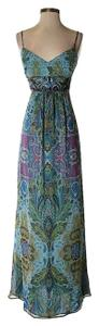 Adrianna Papell Silk Print Paisley Sweetheart Dress