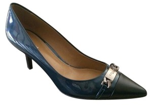 Coach Metallic blue/black Pumps