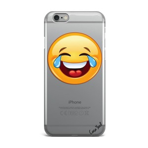 Case Yard NEW Clear Plastic IPhone Case with LOL Emoji Design, Size 7s