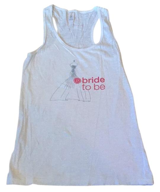 Item - White Bride To Be Tank Top/Cami Size 12 (L)