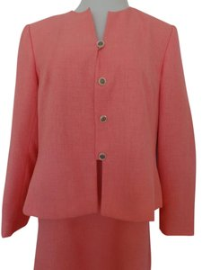 Travis Ayers Women's Pink Skirt Suit Long Sleeve
