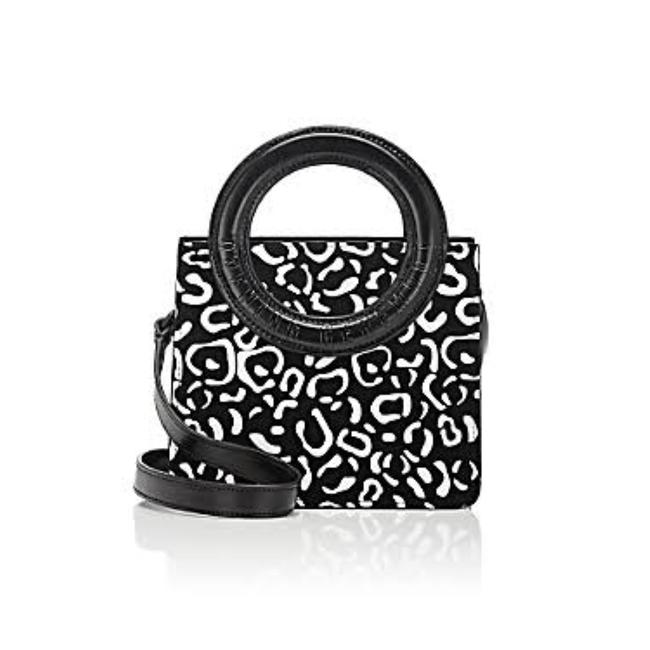 Item - Lynx Black and White Suede Cross Body Bag