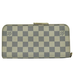 Louis Vuitton Authentic Louis Vuitton Insolite Damier Azur Zippy White Wallet