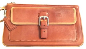 Coach Wristlet in Brown & Tan
