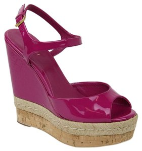 Gucci Micro Hot Pink Wedges