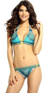 Other New's Light Blue Cool Summer Paisley Print Bikini Set Item No. : LC40645-2