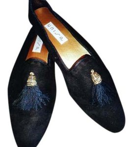 Unisa Loafers Suede Black Flats