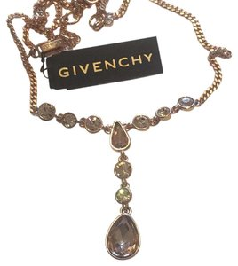 Givenchy Swaroviski Element Crystal Necklace Rose Gold