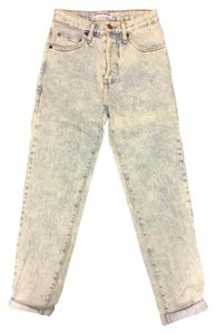 American Apparel High Waist Skinny Jeans-Acid