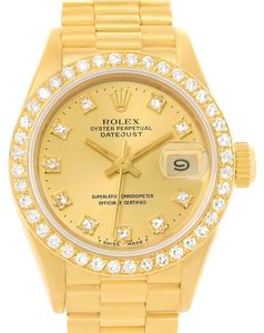 Rolex Rolex President Datejust Ladies 18k Yellow Gold Diamond Watch 69168