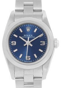 Rolex Rolex Oyster Perpetual Nondate Ladies Steel Blue Dial Watch 76080