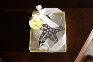 100 Stainless Steel Starfish Book Marks