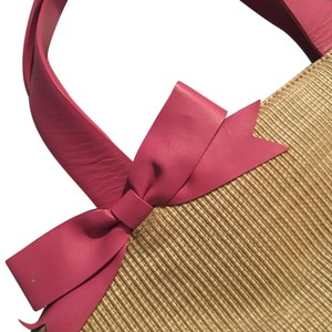 Preston & York Tote in Straw And Pink