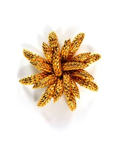 Chanel Chanel Goldtone Wheat Flower Brooch Pin