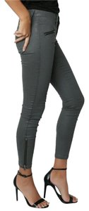 Current/Elliott Edgy Anl E Zip Coated Skinny Jeans-Coated