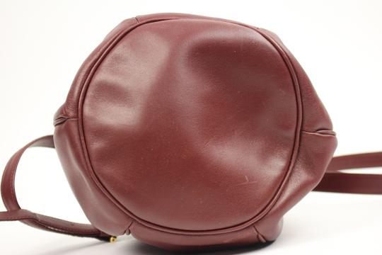 Cartier Muste De Bucket Drawstring Noe Hobo Satchel in Burgandy