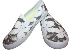 Roxy Floral Sneaker Boat Grey & White Athletic