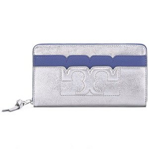 Tory Burch Scallop-T Metallic Zip Continental Wallet