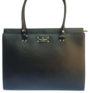 Kate Spade Work Leather Laptop Tote in Black