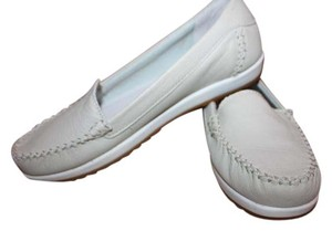 Cougar Sneaker Boat Off White/Gray Leather Boat TAUPE Flats