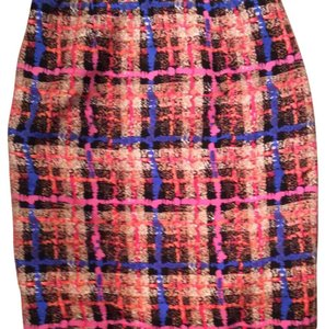 J.Crew Plaid Silk Skirt Black, Pink, Royal Blue, Cream, Camel