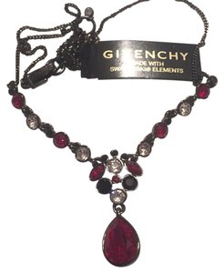 Givenchy Multi Color Red Swaroviski Element Crystals ,Necklace