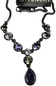 Givenchy Elegant Swarovski multi color crystal necklace