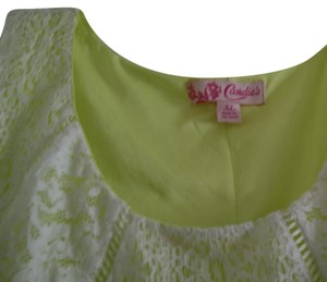 Candie's short dress Green & white on Tradesy