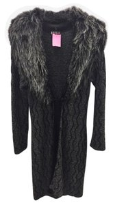 Morgan Tricot Faux Fur Sweater