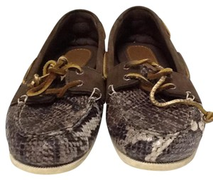 Sperry Loafers Top Sider Boat Animal Print Flats