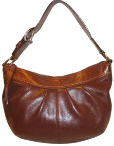 Coach Refurbished Brown Leather Lined Shoulder Bag