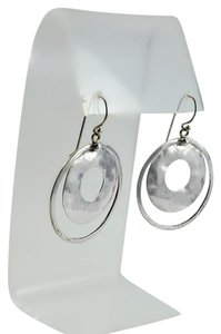 Silpada Double Circle Hammered Sterling Earrings Silpada Perspectiva