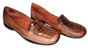 Bellini Snakeskin Slip-on Orange Flats